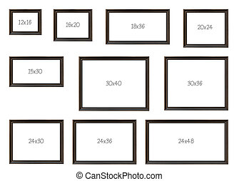The Ten Most popular Selling Frames Dimensions of a Popular...