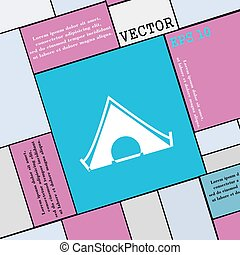 The tent icon sign. Modern flat style for your design. Vector