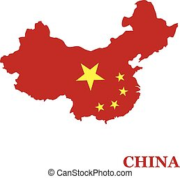 The territory of China vector illustration