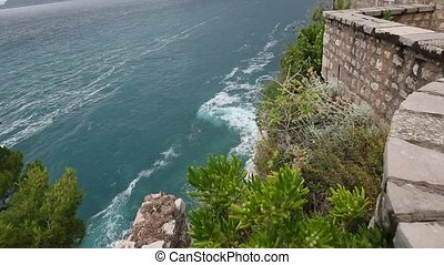 The territory of the island of Sveti Stefan. Inside the...