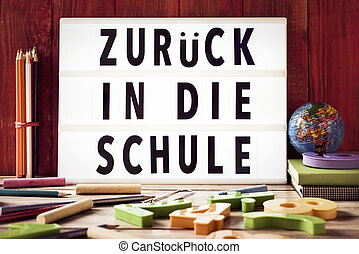 text zuruck in die schule, back to school in german - the...