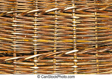 The texture of a wicker basket