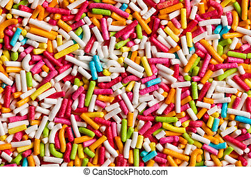 the texture of candy sprinkles