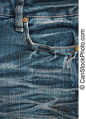 The texture of denim pocket