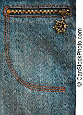 The texture of denim pocket