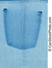 The texture of denim