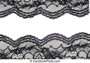 The texture of fabric lace, black color