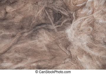The texture of mineral wool for insulating the walls...