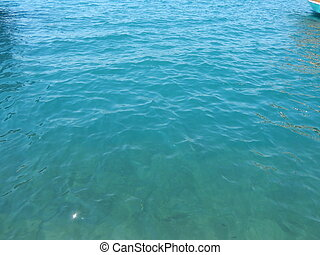 The texture of the Aegean Sea water