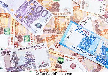 texture of the banknotes - The texture of the banknotes, the...