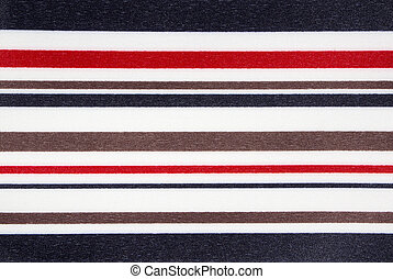 The texture of the fabric in multi-colored stripes.