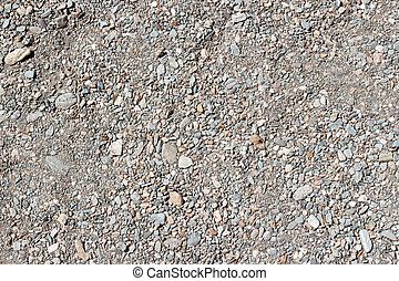 The texture of the gravel. Small rubble