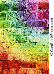 old fortress wall - The texture of the old fortress wall