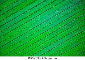 The texture of the old green board located diagonally