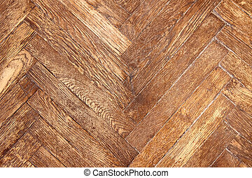 The texture of the phone from wooden dark varnished parquet