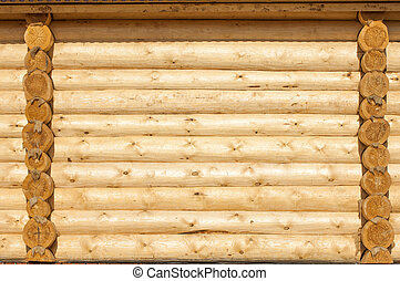 The texture of the wooden house