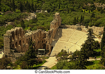 The Theater of Herod Atticus,Athens