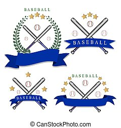 The theme baseball - Abstract vector icon illustration of...