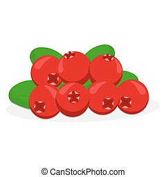 The theme cranberry - Abstract vector illustration of logo...