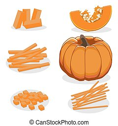 The theme pumpkin - Abstract vector illustration logo whole...