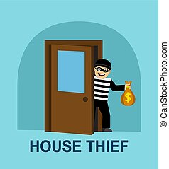 the thief stole money