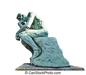 The Thinker Statue by the French Sculptor Rodin on white ...