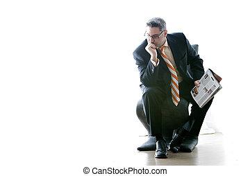 The Thinker - Businessman contemplates