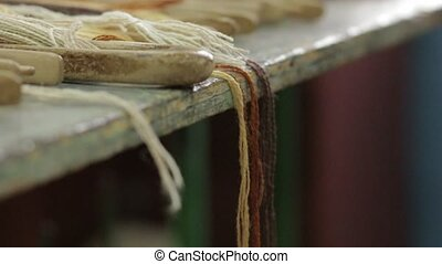 The Threads On The Weaving Table - Threads for making...