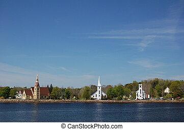 The Three Churches in Mahone Bay