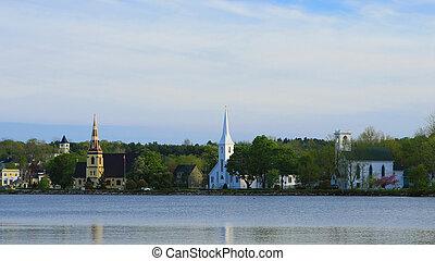 The Three churches of Mahone Bay, Nova Scotia