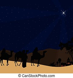 The Three Kings follow the star