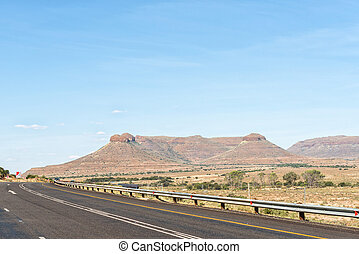 The Three Sisters, three typical karoo hills
