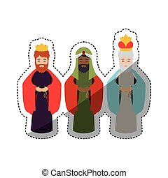 The three wisemen cartoon design