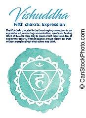 The Throat Chakra vector illustration