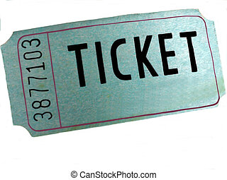 The Ticket is a photo of a single ticket with space to put...