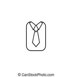 The tie icon. Necktie and neckcloth symbol. Flat Vector ...