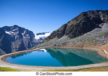 The Tiefenbach glacier located near S?lden in the ?tztal Alps of Tyrol, Austria. During the winter, the glacier is accessible by cable car and from spring time by car, using the Gletscherstrasse