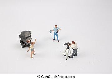 tiny of figure theme broad cast