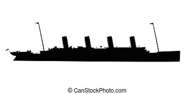 The Titanic Silhouette - Silhouette of the doomed ocean ...