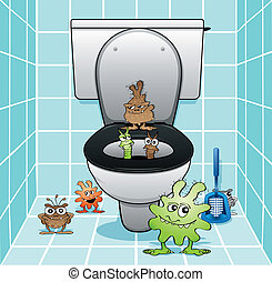 The toilet gang - Toilet monsters coming out of the drain
