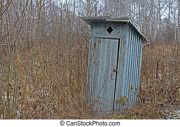 The toilet is the area of a country house