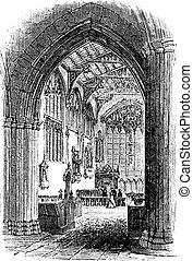 The tomb of William Shakespeare in Church of the Holy...
