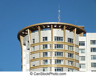 The top of a high building