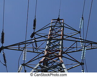 the top of an electrical pylon