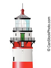 The Top Of The Lighthouse - Top of a lighthouse isolated...
