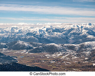 The top of the mountain Helmos in Kalavrita