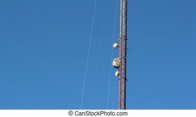 The top part of the mobile tower