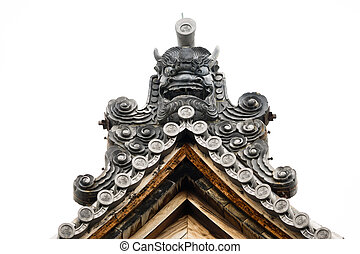 The top roof detail of Japanese temple