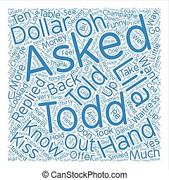 The Topless CPA text background wordcloud concept