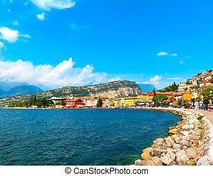 Torbole on Lake Garda in Italy